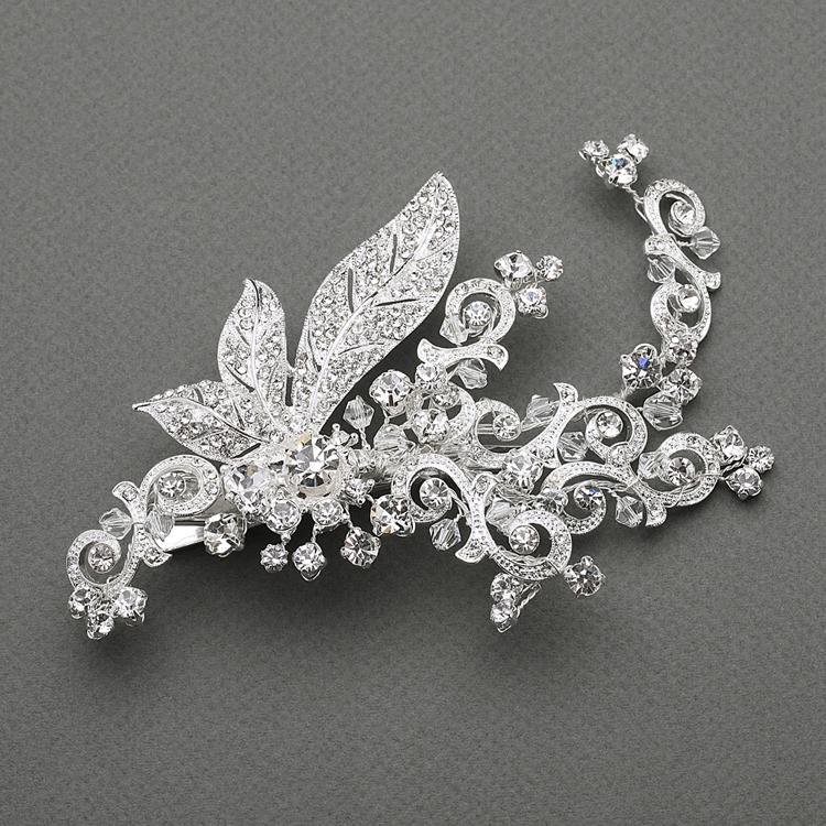 Vintage Crystal Bridal Hair Clip, Wedding Headpiece, Bridal headpieces