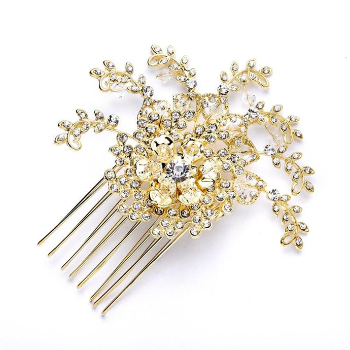 Bridal Crystal Spray Hair Comb - La Bella Bridal Accessories