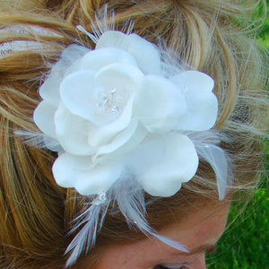 Tiara Pearl Crystal, Wedding Headpiece, Bridal headpieces - La Bella Bridal Accessories