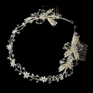 Bridal Headband Hair Vine with Swarovski Crystals - La Bella Bridal Accessories