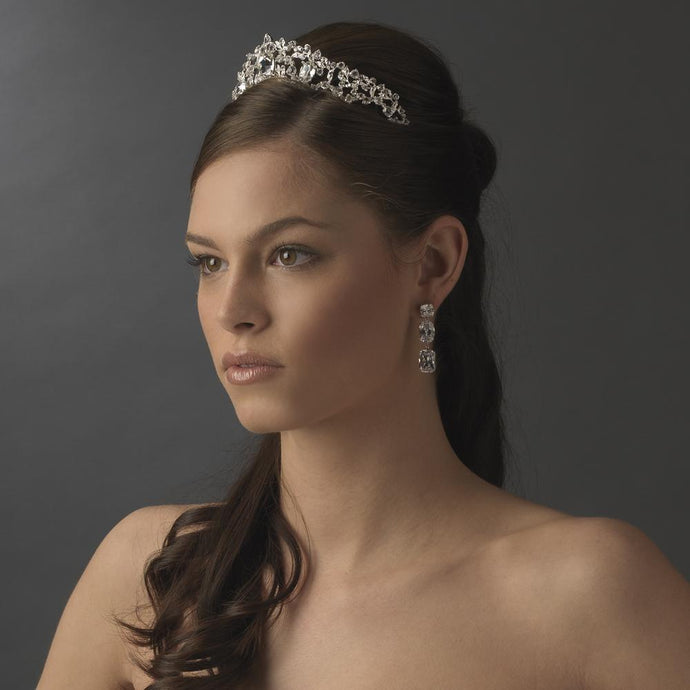 Princess Crystal Sensation Bridal Tiara - La Bella Bridal Accessories