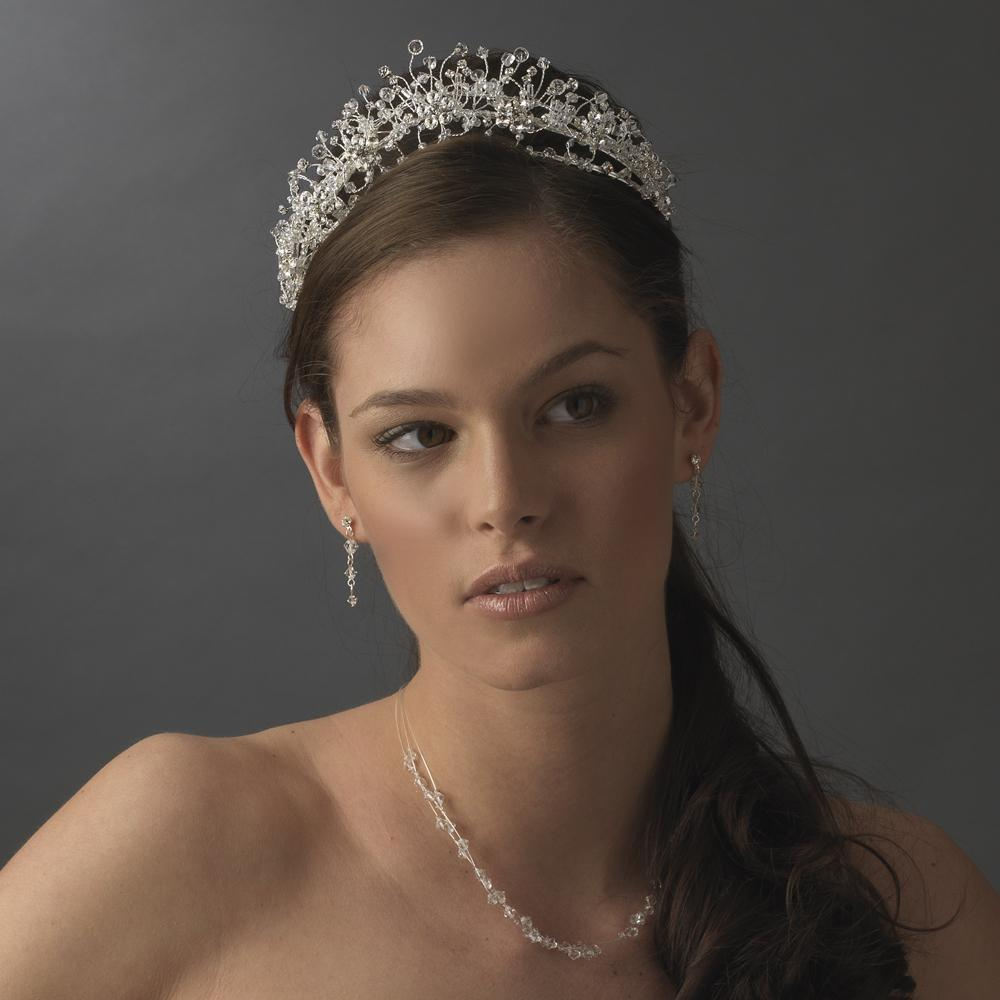 Enchanting Gold Crystal Bridal Tiara - La Bella Bridal Accessories