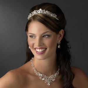 Fabulous Silver Crystal Tiara Headpiece - La Bella Bridal Accessories