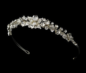 Garden Crystal Bridal Tiara - La Bella Bridal Accessories