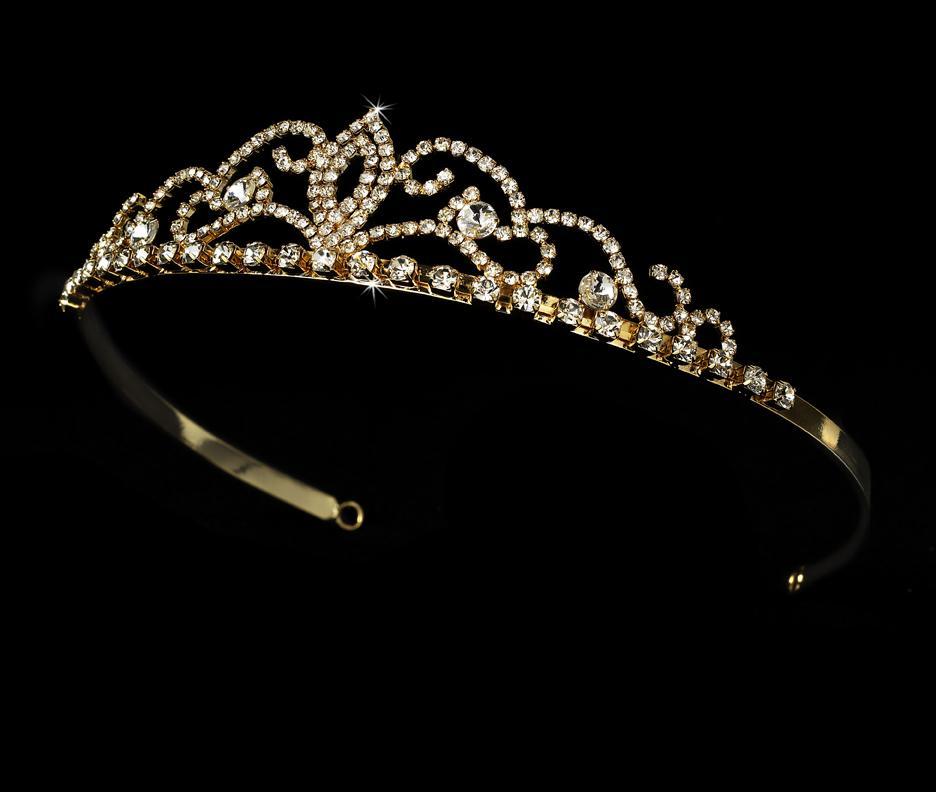 Ornate Crystal Bridal Tiara - La Bella Bridal Accessories