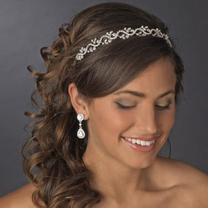 Lovely Crystal Bridal Tiara - La Bella Bridal Accessories