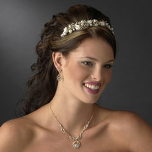Gold Ivory Pearl Headband - La Bella Bridal Accessories