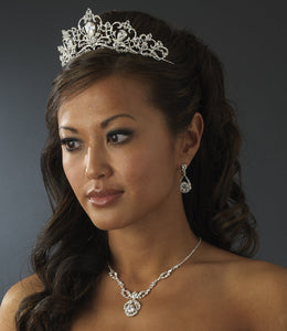 Royal Crystal Bridal Tiara - La Bella Bridal Accessories