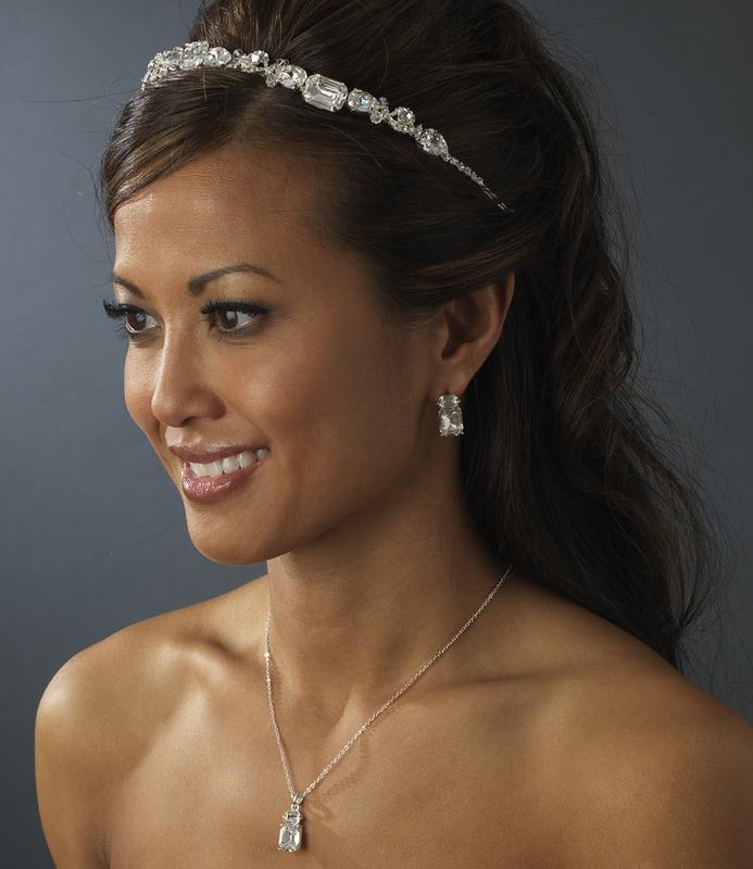Lovely Bridal Crystal Headband - La Bella Bridal Accessories