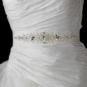 Swarovski Crystal Wedding Sash - La Bella Bridal Accessories