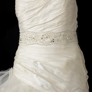 Wedding Sash with Crystals, Bugle Beads Sequins - La Bella Bridal Accessories