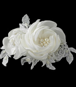 Flower Hair Clip Rose - La Bella Bridal Accessories