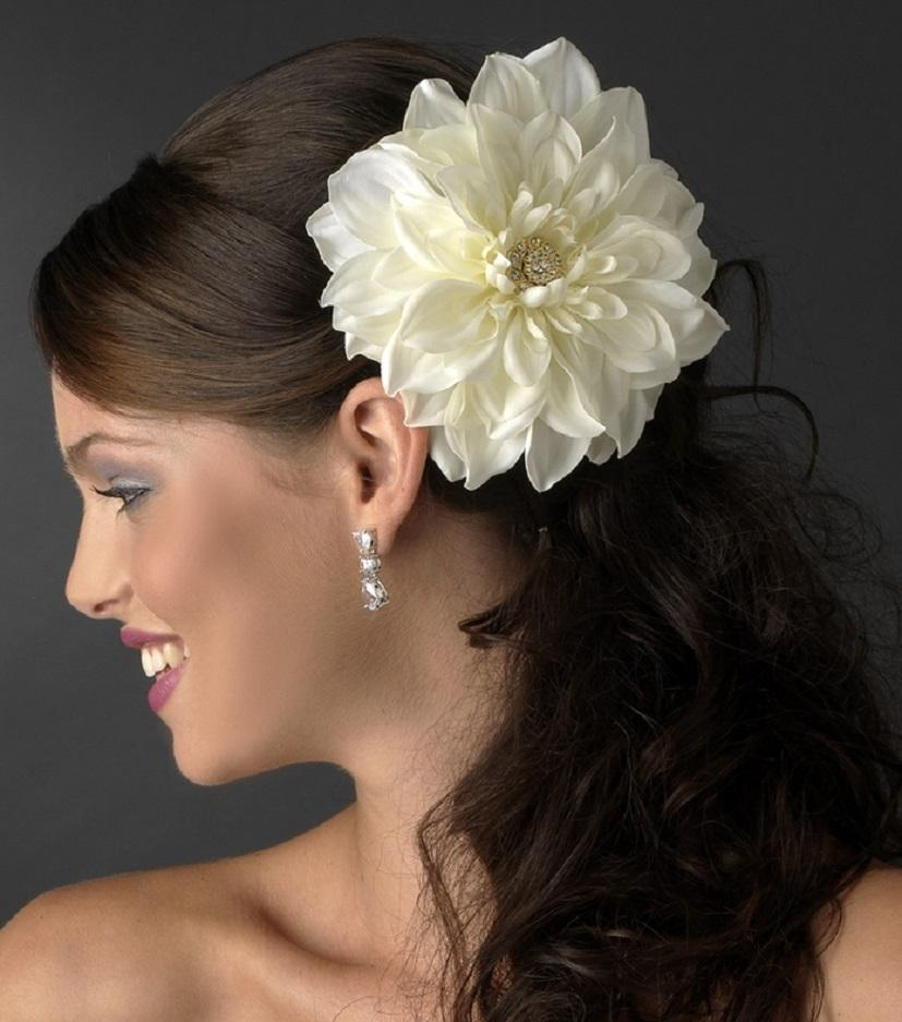Flower Hair Clip Dahlia - La Bella Bridal Accessories