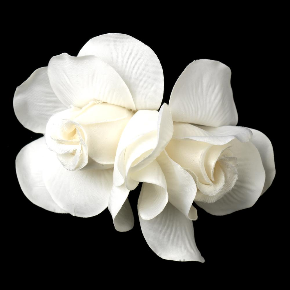Pretty Gardenia Flower Clip - La Bella Bridal Accessories