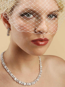 Pretty Vintage Inspired Wedding Birdcage Visor Veil - La Bella Bridal Accessories