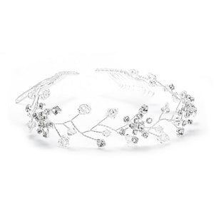 Swarovski Crystal Bridal Hair Vine - La Bella Bridal Accessories