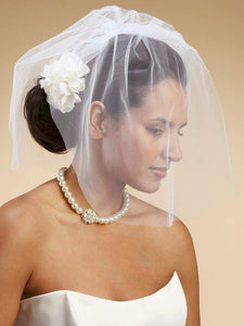 Lovely Birdcage Bridal Veil - La Bella Bridal Accessories