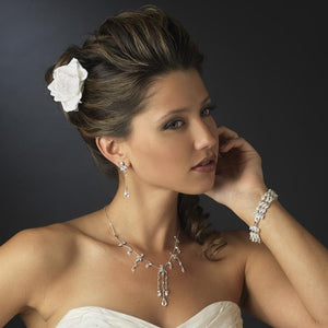 Rose Bridal Flower Hair Clip - La Bella Bridal Accessories