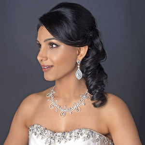 Sparkling Crystal Forehead Bridal Hair Chain Headpiece