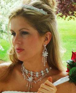 Bridal Crystal Tiara Jewelry Set - La Bella Bridal Accessories