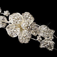 Crystal Floral Side Wedding Headpiece Headband - La Bella Bridal Accessories