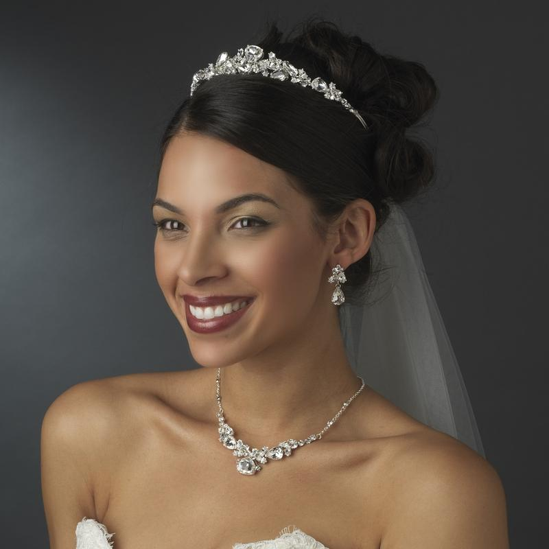 Fantastic Shining Crystal Bridal Tiara - La Bella Bridal Accessories