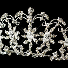 Crystal Sun flower Wedding Tiara Headpiece - La Bella Bridal Accessories