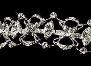 Crystal Encrusted Bridal Headband - La Bella Bridal Accessories