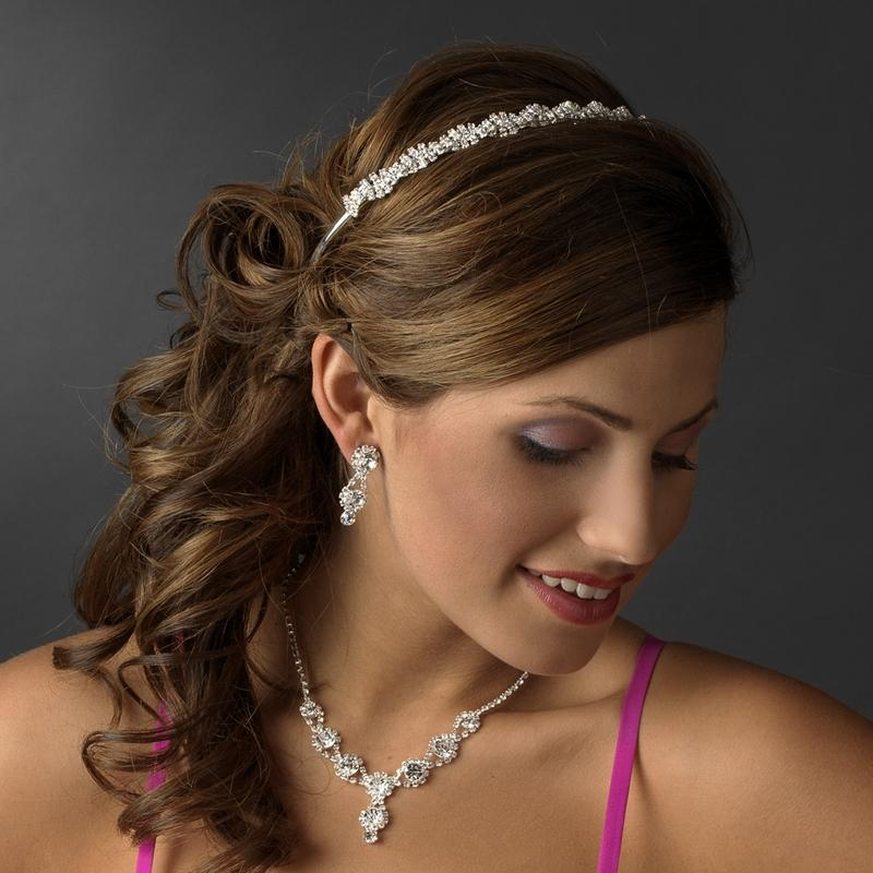 Crystal Bridal Braid Headband - La Bella Bridal Accessories