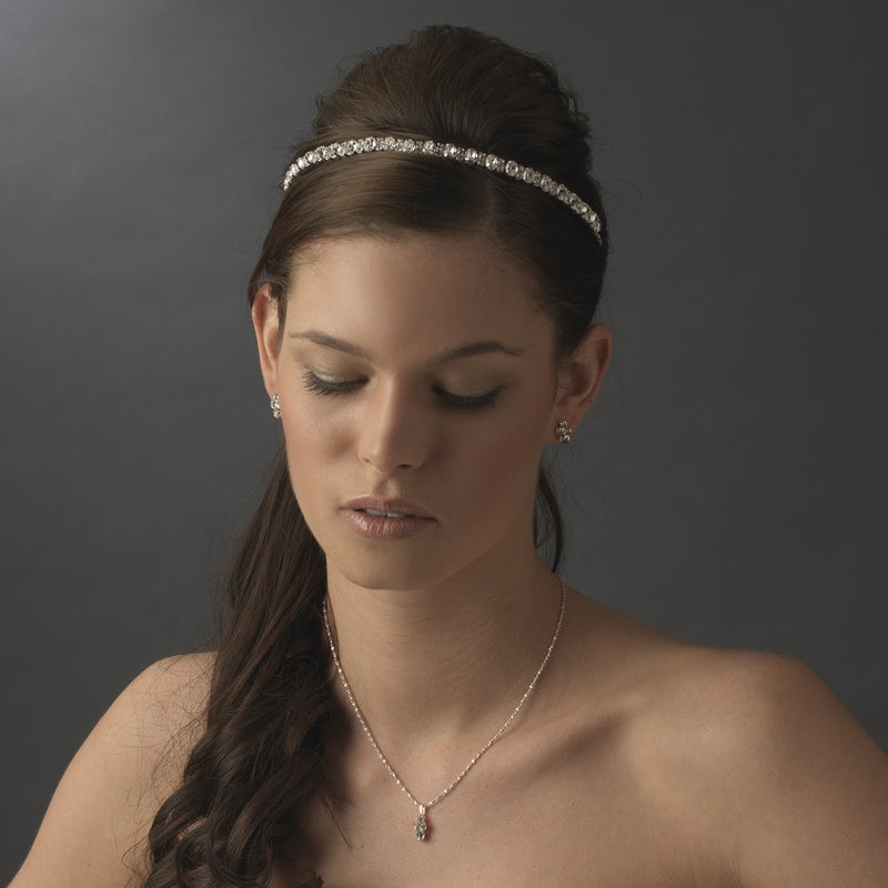Glamorous Sparkling Crystal Bridal Headband - La Bella Bridal Accessories