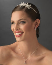 Crystal Encrusted Flower Headband - La Bella Bridal Accessories