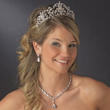 Gorgeous Royal Inspired Silver Crystal Bridal Tiara Crown