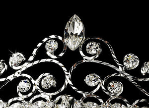 Princess Inspired Crystal Tiara - La Bella Bridal Accessories
