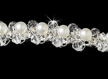 Swarovski Crystal & Pearl Wedding Headband - La Bella Bridal Accessories