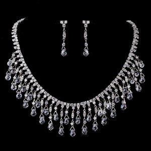 Gorgeous Crystal CZ Bridal Jewelry Set