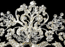 Antique Silver tiara,Crystal Wedding Tiara,wedding headpiece,wedding crown,crystal crown - La Bella Bridal Accessories