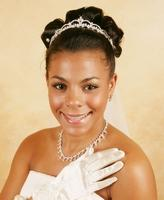 Dainty Elegant Crystal Bridal Tiara - La Bella Bridal Accessories