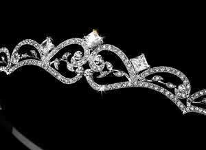 Antique Silver Bridal Tiara - La Bella Bridal Accessories