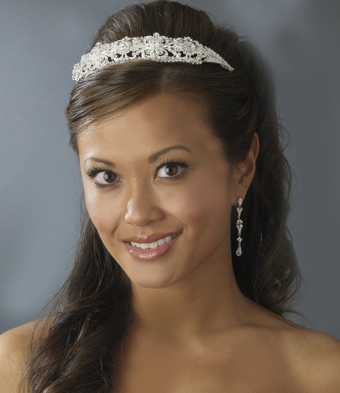 Crystal Headband,wedding headpiece, silver headband tiara, wedding tiara,wedding headband, bridal hairpieces