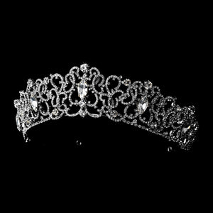 Majestic Crystal Tiara Wedding Headpiece - La Bella Bridal Accessories