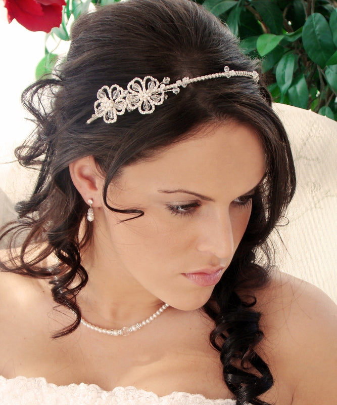 Swarovski crystal headband,crystal encrusted headband,crystal flower headband,bridal headband,crystal bridal headband,crystal wedding headband.wedding headpiece,bridal headpieces,wedding hair band
