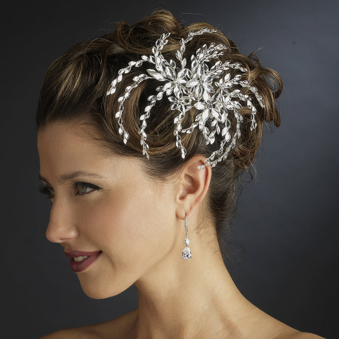 Gorgeous Marquise Crystal Burst Bridal Hair Comb - La Bella Bridal Accessories