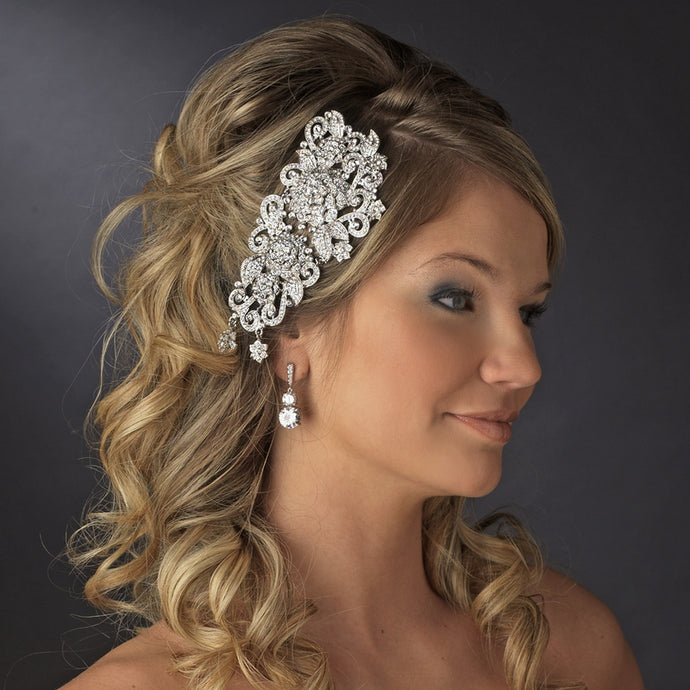1920s Vintage Inspired Crystal Headpiece - La Bella Bridal Accessories