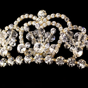 Swarovski Crystal Tiara Headpiece - La Bella Bridal Accessories