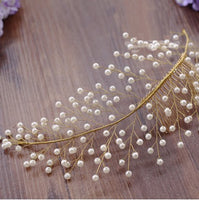 Hair Accessories - Vintage Faux Pearl Leaf Shape Hair Comb