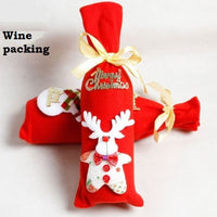 Christmas Wine Packing Bag