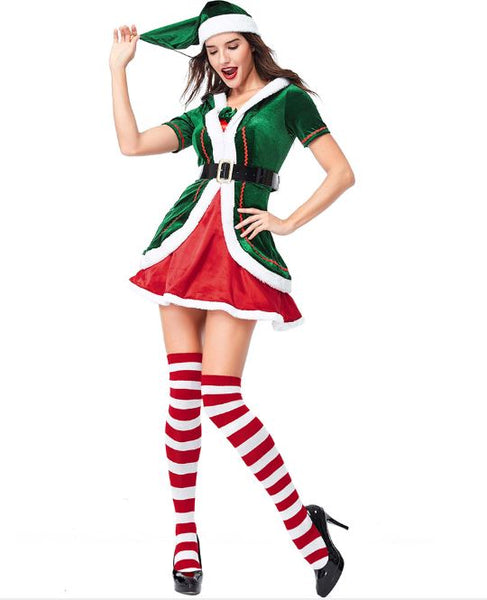 Christmas Party Cosplay Ladies Dress Set