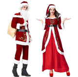 Mr & Mrs Santa Claus Cosplay Dress Set Couple Set