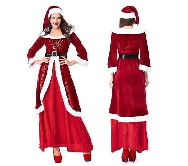 Mrs Santa Claus Cosplay Long dress
