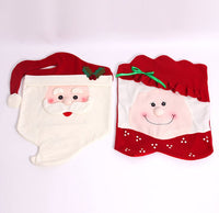 Mr & Mrs Santa Claus Chair Cover Christmas Decoration